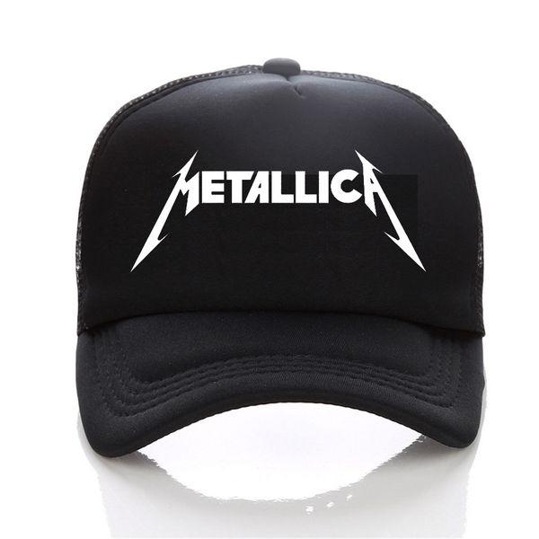 Metallica logo Berretto da baseball moda Uomo e donna Cappello Hip-Hop per il tempo libero Giovane coppia di sport all'aria aperta sole