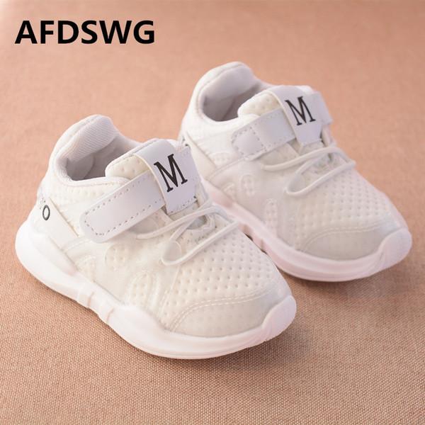 zapatillas transpirable AFDSWG zapatos negros niños malla y niñas casual blancos primavera otoño niños zapatos chico wI6F4Sq