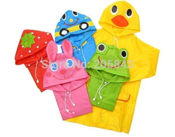 5pcs/set Funny Rain coat Kids Rain Coat children Raincoat