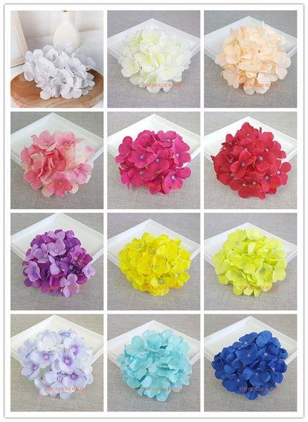 12Colors 15 CM Hydrangea Artificielle Décoratif En Soie Fleur Tête Pour Mur De Mariage ArchDIY Cheveux Fleur Décoration de La Maison accessoires accessoire