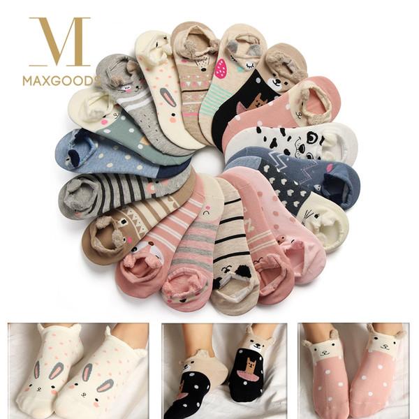 1 Pair 3D Lovely Soft Ankle Socks for Women Girls Cute Cartoon Animal Cotton Warm Socks Harajuku Ankle Sox Low Cut Sock