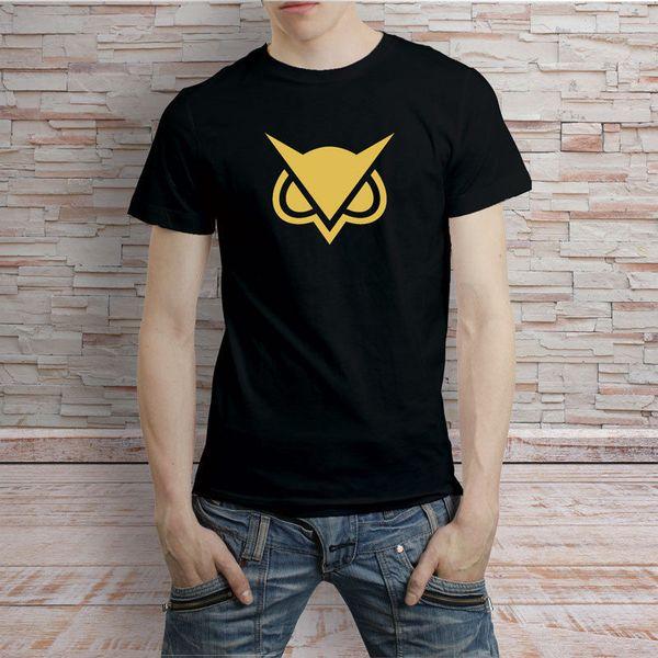 Vanoss Gaming Gold OWL Logo Black And White Tshirt Tee 2018 New Tee Print Men T-Shirt Tops Hip Hop Short T Shirt Round Neck man's