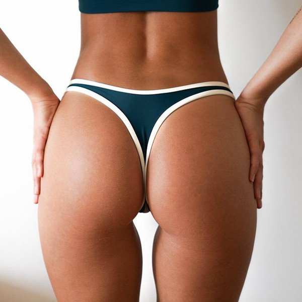 Wimming Briefs V Shape Sexy Swimwear Mujeres 2018 Bikini brasileño Bottoms Scrunch Butt Tanga Tanga Panties Ropa interior