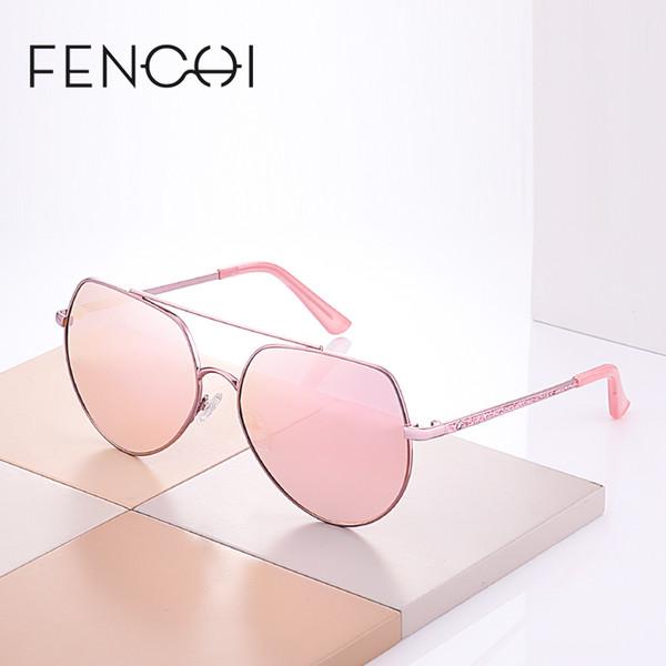 X FENCHI Novos Óculos De Sol Das Mulheres de Metal Redondo Designer De Marca Espelho Diamantes Óculos De Sol De Condução Moda óculos de Sol