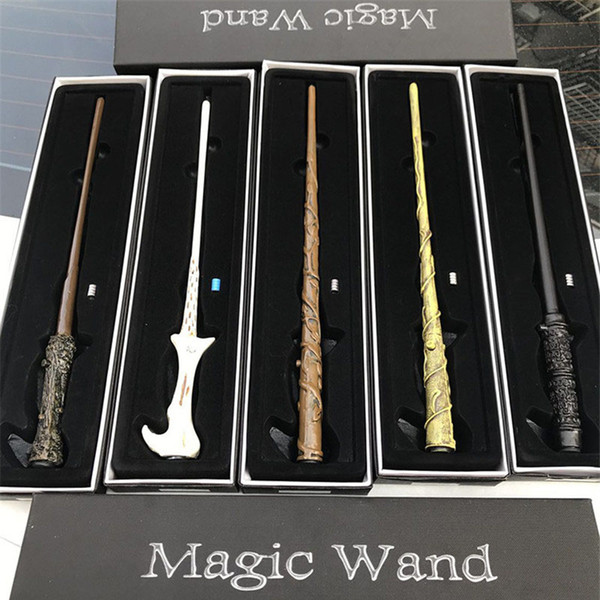 best selling LED Harry Potter Magic Wand Light Up Hermione Voldermort Magic Wands Halloween Cosplay Magic Wand Gift In Box 12 design OTH545