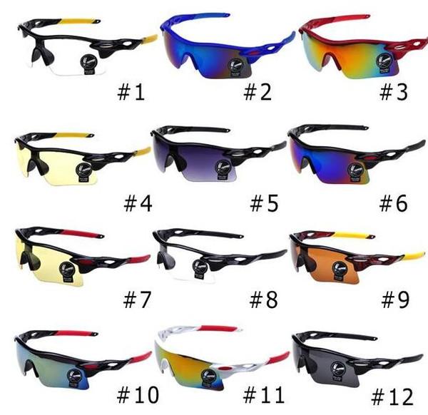 HD Glasses Men Women Night-vision Outdoor Sport Eyewear UV400 Cycling Sunglasses