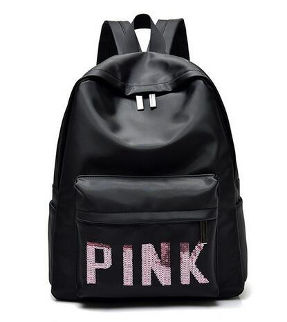 2018 love pink Teenage Girl Backpacks Zipper Shoulder Versatile Sack Summer Holiday Beach letter bag Shopping BACKPACK