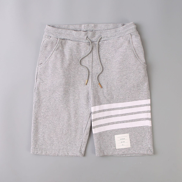 best selling 18SS thom Beach shorts tb short mens designer shorts Three white stripes Off Men browne Leisure pants White for Summer size 0-4