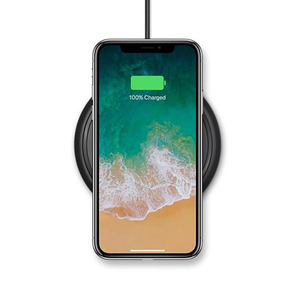 Base di ricarica wireless 7.5W QI per iPhone X 8 iPhone8 Plus Pad di ricarica universale per telefoni con ricarica wireless Nero Spedizione veloce