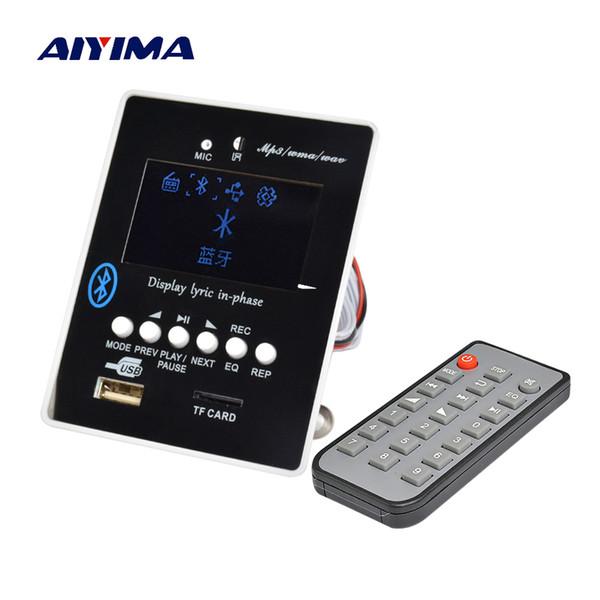 Aiyima светодиодный лирический дисплей Bluetooth аудио MP3 декодер доска MP3 плеер модуль приемника декодирования USB SD WAV WMA AUX FM
