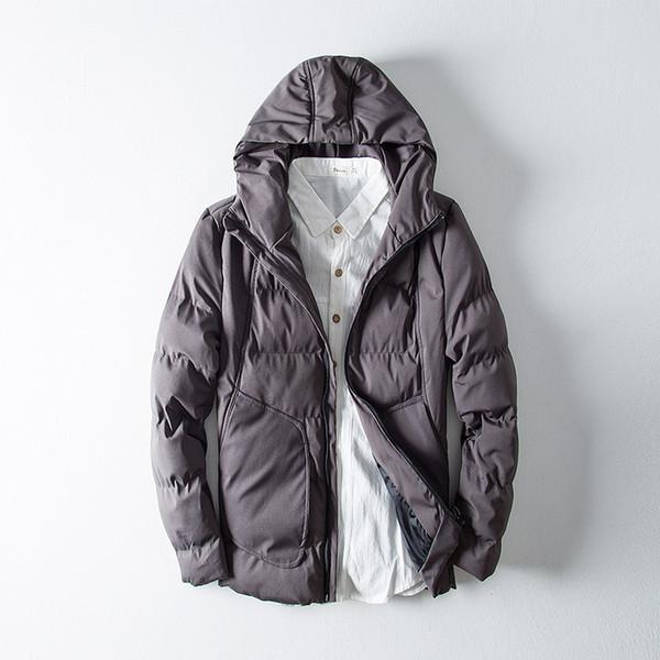 Großhandel Männer Wintermantel Wadded Dicke Warme Kapuze Parka Herren Baumwolle Daunenjacken Männlichen Mantel Qualität Mäntel Plus Größe Mantel AU