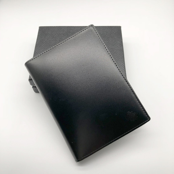 New Selling MB Bright Leather MT Men's Business M B Black Classic Credit Card Holder Cover Cover Travel Wallet Passport Thin Card Holder