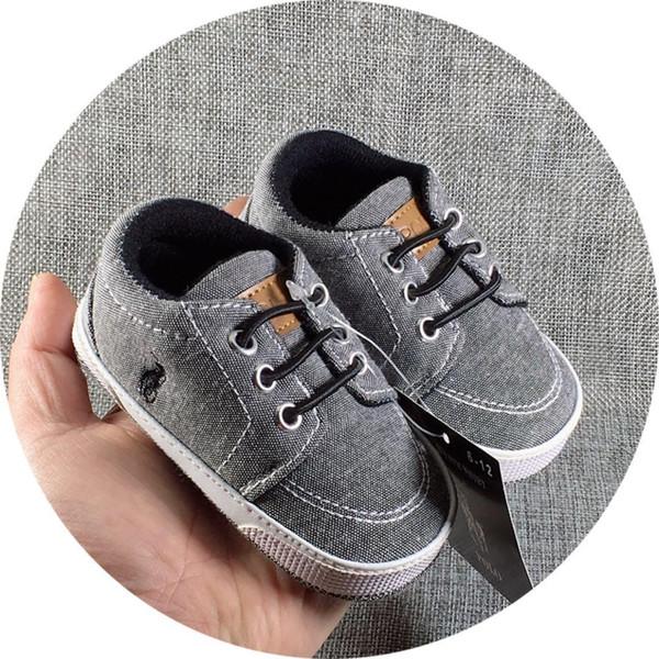 Graue Farbe Baby Jungen Mädchen Sportschuhe Neugeborenen Erste Wanderer Schuhe Weiche Sohle Anti-slip Infant Prewalker Mokassins Turnschuhe