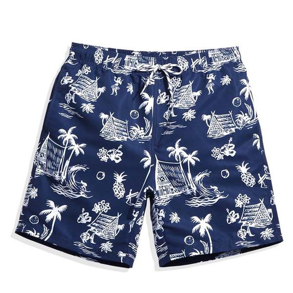 Maillots de bain pour hommes Shorts d'été Praia Hawaiian Bermudas Maillots de bain Hommes Maillot de bain Sexy Navy Plavky Mesh Liner Beach Surf