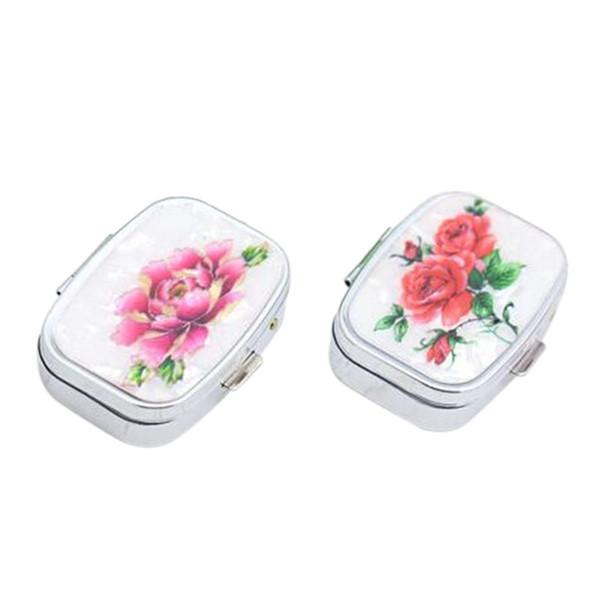Fashion Mini Portable Folding Case Vitamin Organizer Box es Makeup Travel Storage Case Container
