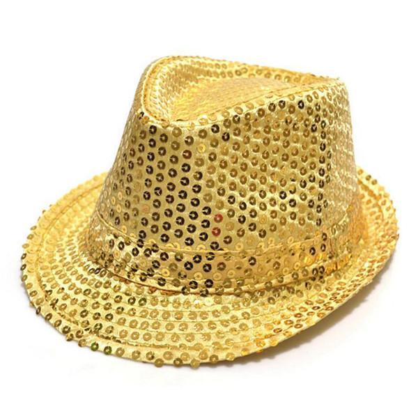 Fedora Trilby Sequin Unisex Fancy Dress Dance Party Hat Unisex Hip-Hop Jazz Hat DHL shipping 30pcs