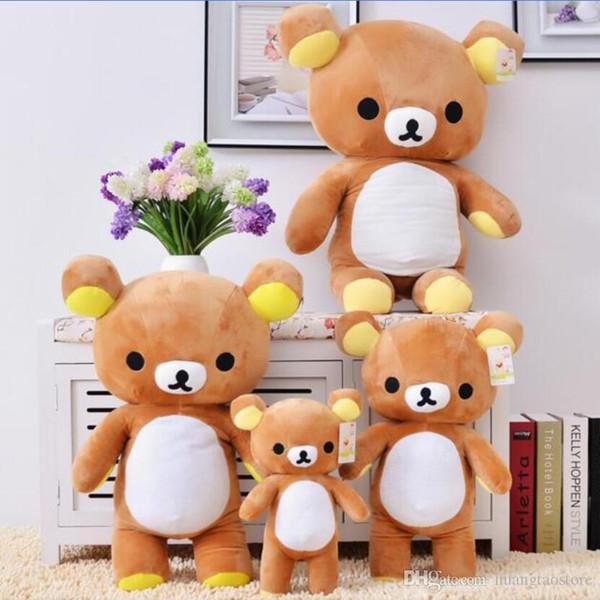 35 / 60cm Kawaii großes braunes japanisches Art rilakkuma Plüschtier Teddybär füllte Tierpuppen-Geburtstagsgeschenk freies Verschiffen an