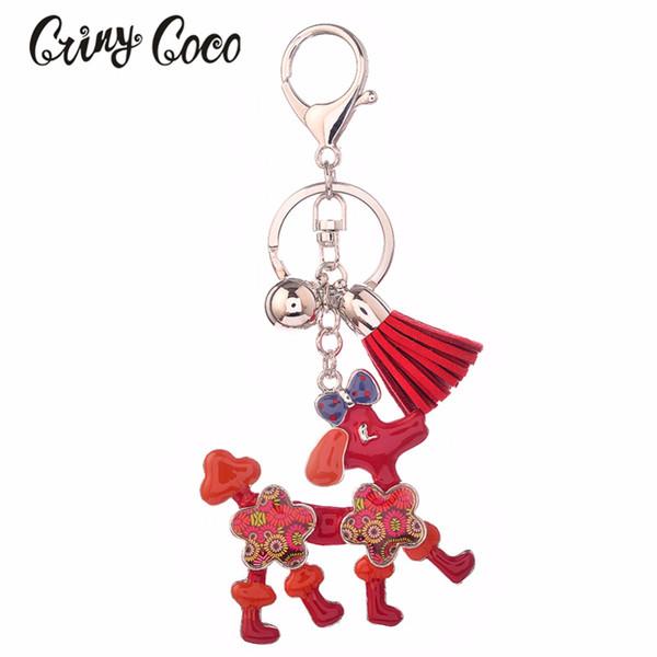 Cute Dog Keychain for WomenEnamel Key Chain Car Keys Zinc Alloy Key Ring for Men Fashion Bag Clothes Jewellery Girl