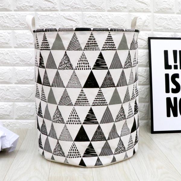 3pcs/lot Nordic Style Cotton Linen Fabric Laundry Basket Washing Hamper Fold Household Dirty Cloth Organizer Pouch 35x45cm