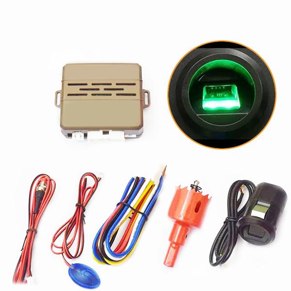 top popular New One Button Fingerprint Start Engine Push Button Start Stop Switch Car Anti-theft System Keyless Entry System 2019
