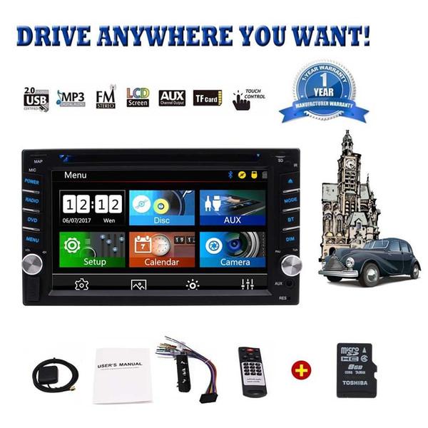 "Car Stereo 6.2"" Double Din Car Radio in Dash FM/AM Multi-Touchscreen GPS Navigation Car DVD Player Headunits Bluetooth Subwoofer USB SWC"
