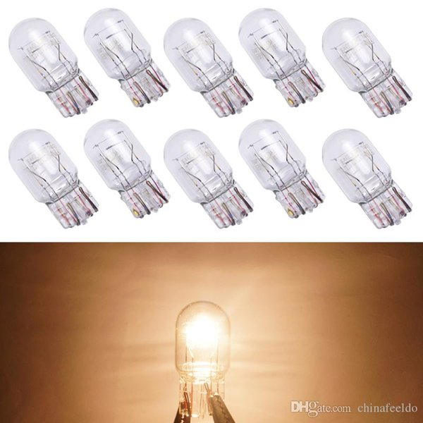 10pcs Car T20 7443 1881 W21W 12V Wedges bulb External Halogen Lamp Side/Turn/Tail Lights DRL Light Warm White#5220