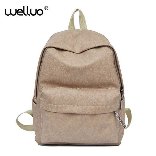 Leather Backpacks Women Large Capacity Casual Bag For Girls School Bag Laptop Backpack Travel Bags Rucksack Female 2018 XA463WB