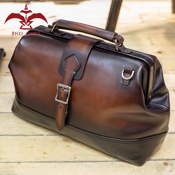 d5ba2aa82aa Free Soul Bag! 100% Genuine Calf Leather Patina Travel Bag, Men/Lady Tour  Duffel Bag Custom Handmade Handbag Drop Shipping Cheap Duffle Bags  Backpacks ...