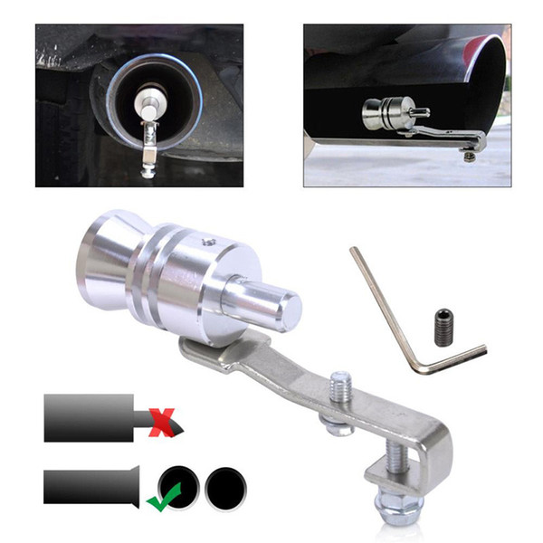 Size L Universal Car Exhaust Sound Tip Turbo Sound Whistler Exhaust Muffler Pipe Fake Blow Off Valve Turbo