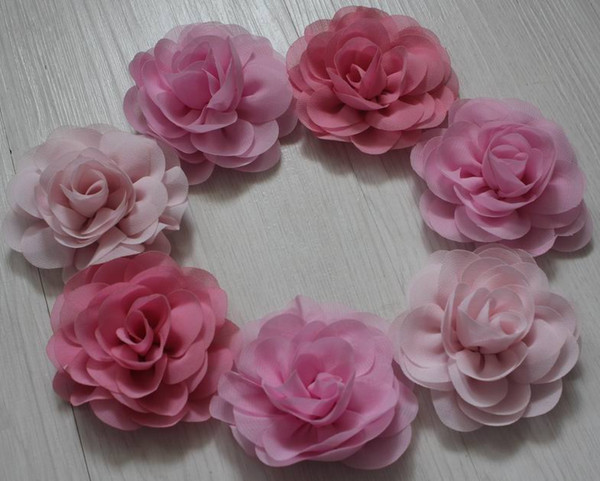 50pcs 8cm soft chiffon fabric flowers for girls hair accessories,chiffon flowers for babies headbands,toddler hair clip flowers