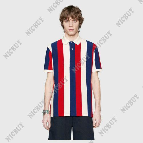 diseñador de verano ropa de marca para hombre con estampado de letras de color camiseta a rayas cuello vuelto camiseta casual camiseta