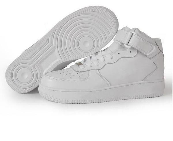 Großhandel Nike Air Force 1 2018 Neueste Klassische Alle Weiß Schwarz Grau Niedrig Hoch 1 Schnitt Männer Frauen Sport Turnschuhe Laufschuhe Ein Skate