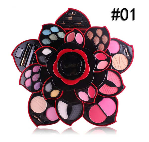 MISS ROSE Makeup Sets Big plum blossom Make-up box rotate Eyeshadow Compact natural sexy Make-up series free shippng