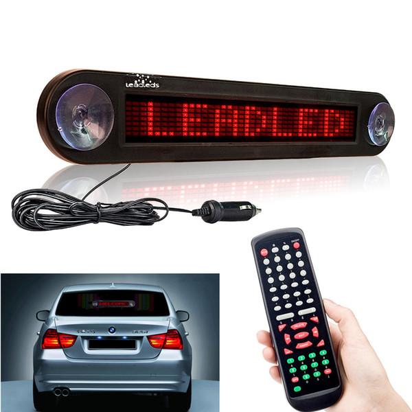 12 V 30 cm Kırmızı Araba Led Burcu Uzaktan Programlanabilir Kaydırma Reklam Mesaj ekran kartı Araba arka pencere Hareketli işareti