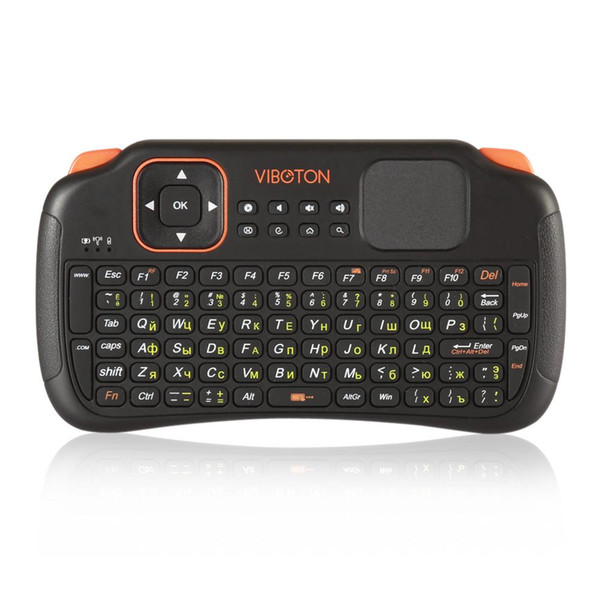 Viboton S1 English Russian 3-in-1 2.4GHz Wireless Keyboard + Air Mouse + Remote Control with Touchpad for Windows Linux