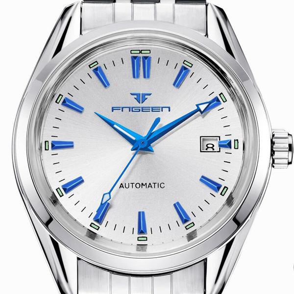 f0d5a9eafc1 Nova Moda Azul Luz Automática Mecânica Wwatches Homens De Negócios De Luxo  Relógio Casual Calendário Relógios De Pulso Masculinos Presentes Relógios