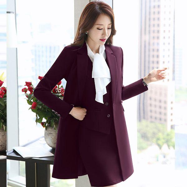 fashion Women's business suit New Pant Suits Costumes for Women Office Business Suits Formal Work Wear Sets Winter women
