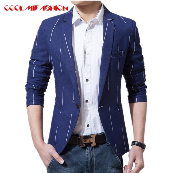 CooLMiFashion Brand Suit Blazer Men Spring Autumn Fashion Slim Male Suits Jacket Casual Masculine Blazer Mens Clothing