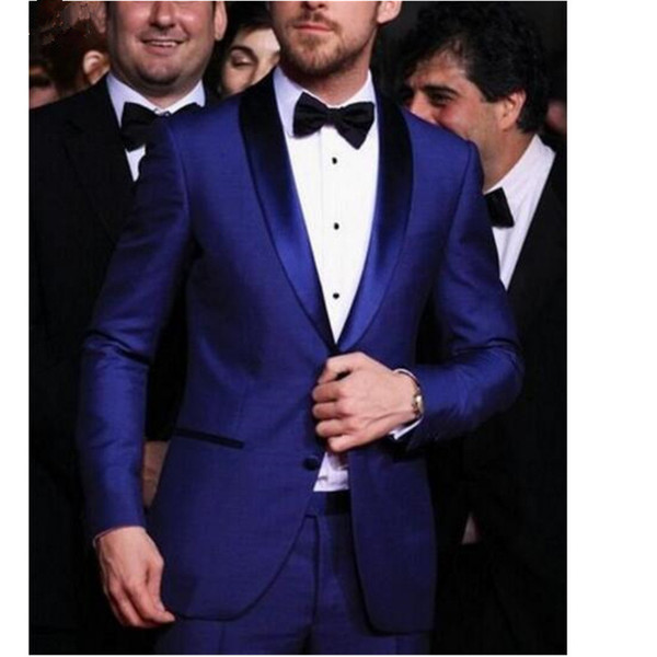 Custom fashion men's suit men's business casual suit two-piece suit (jacket + pants) classic men's double-breasted dress