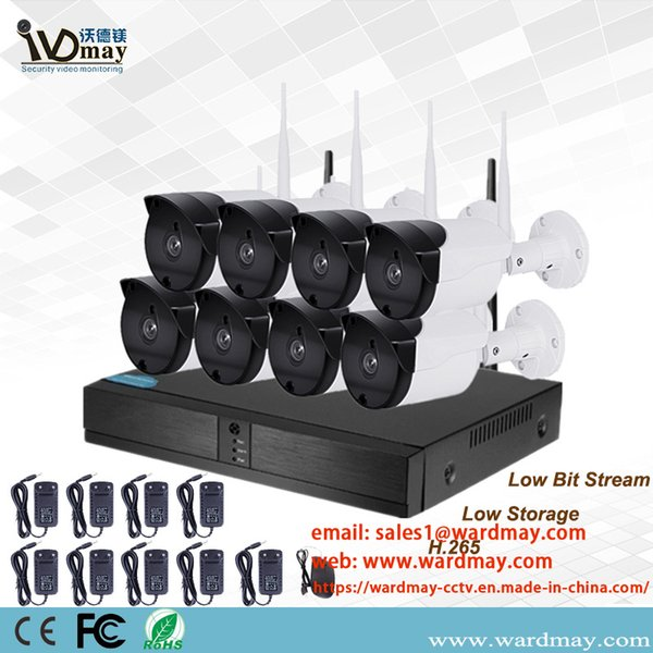 Wdm CCTV Security 8chs 1.0/2.0MP Home Wireless Surveillance Camera WiFi NVR Alarm System for Home Security