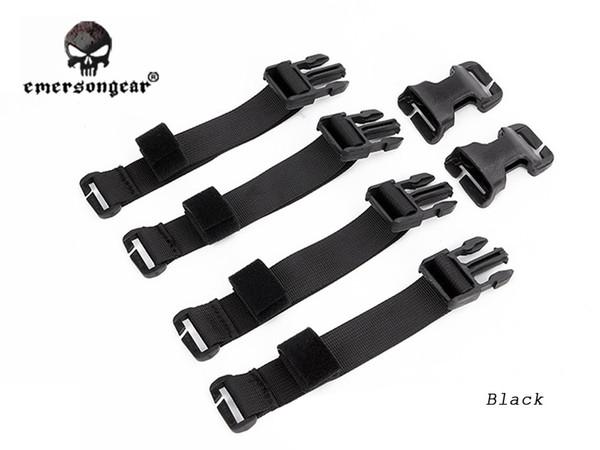 Emersongear Chest Rig zu Weste Adapter Kit Gurtband für Molle Weste Chest Rig Adapter Jagd Zubehör EM7330BK Schwarz