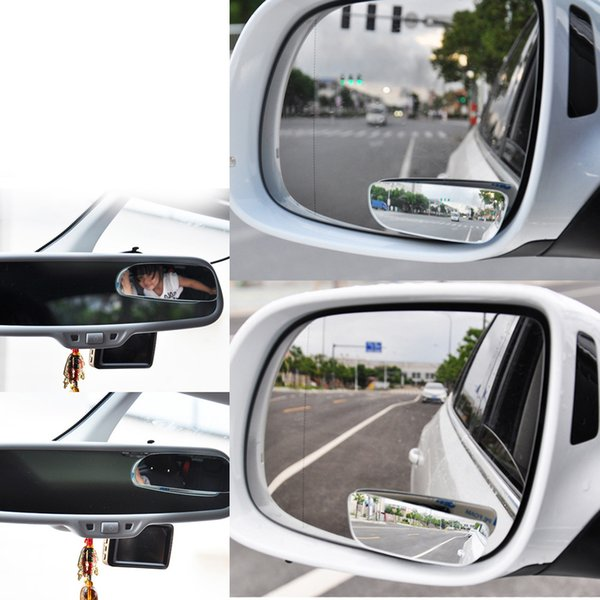 Car Mirror Auto 360 Wide Angle Round Convex Mirror Car Vehicle Side Blindspot Blind Spot Mirror Small Round RearView 2pcs /set
