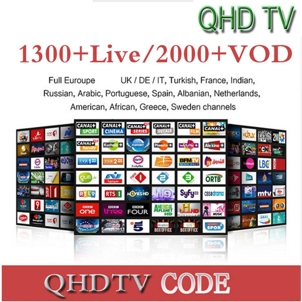 1 Years QHDTV Sports Italy UK Germany 1300+ Europe IPTV Arabic Iptv Channels Streaming IPTV Account Apk Work on Android smart tv