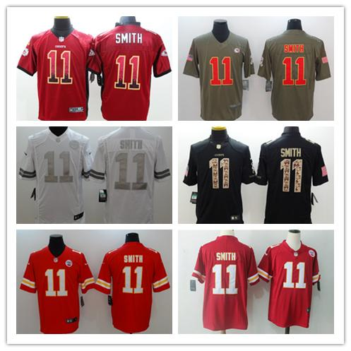 outlet store 9c6d8 3e723 2018 2019 New Mens 11 Alex Smith Kansas City Chiefs Football Jersey 100%  Stitched Embroidery Chiefs Alex Smith Color Rush Football Jerseys From ...