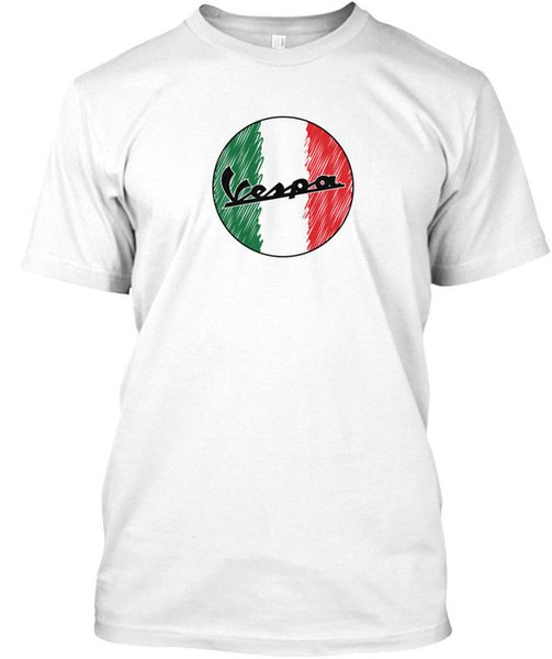 Italian Scooter - Vespa Wholesale Cool Casual Sleeves Cotton T-Shirt Fashion New T Shirts Unisex Funny Tops Tee WholesaleTagless Tee T-Shirt