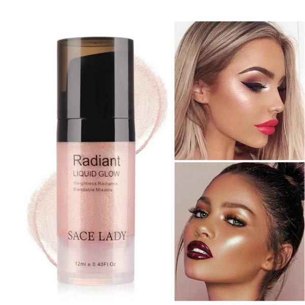 Hot vender Iluminador Maquiagem Highlighter Creme Rosto Ilumine Profissional Brilho Make Up Kit Brilho Líquido Beleza Marca Cosmética