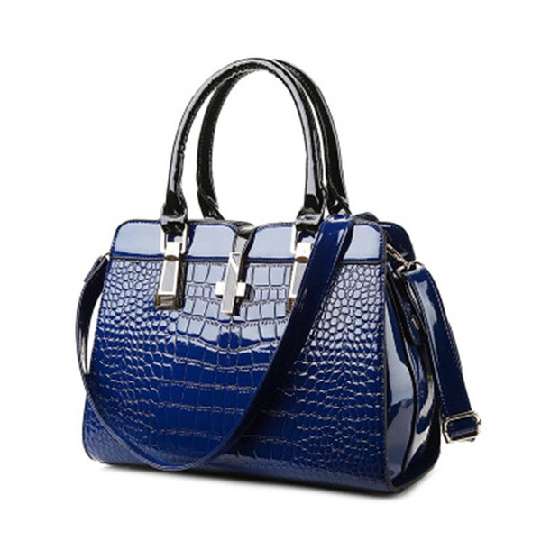 Luxury Handbag Lady Bags PU Leather Famous Brand Crocodile Pattern Female Totes Bag Queen Bag Shoulder Bags Women High Quality