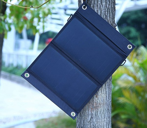 Dual USB Solar Energy Cell Phone Power Banks Portable Outdoor 15W Waterproof Solar Charging Foldable Cover Bags 3rd gerneration SunPower