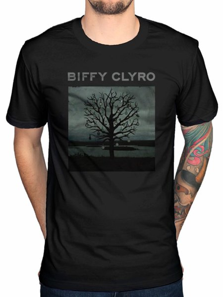 Official Biffy Clyro Chandelier T-Shirt Scottich Rock Band Opposites Puzzle Blis Printed Summer Style Tees Male Top Fitness Brand Clothing
