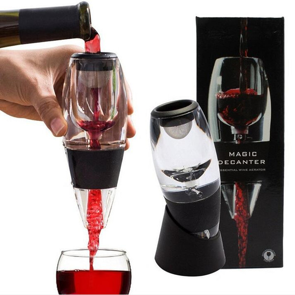 top popular Portable Wine Magic Decanter Classical Wine Aerator  Wine Aerator Decanter Essential,Bag Hopper And Filter with gift box packing 2021
